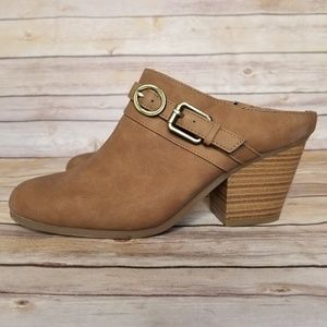 🆕NWOT A2 by Aerosoles tan Velvetine Mules size 9